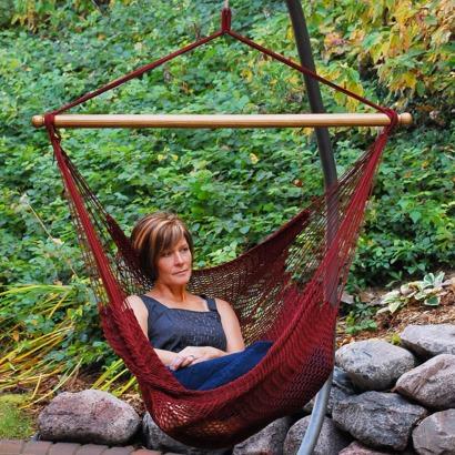 En position assise ou couchée la chaise hamac reste confortable