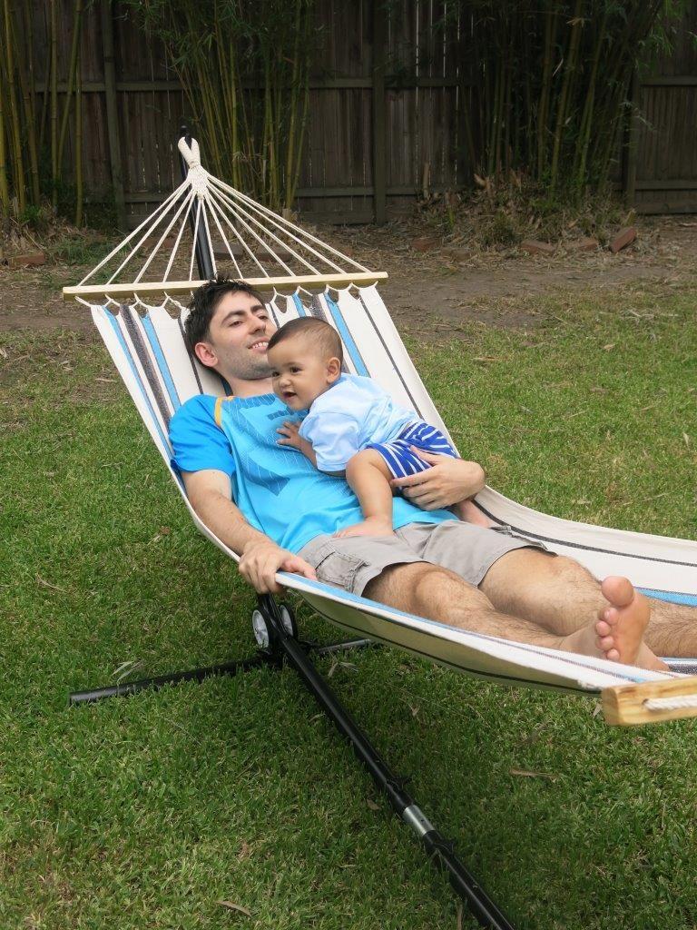 Hamac autoportée pour le repos de papa et bébé