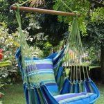 La chaise hamac est aussi un objet de déco dans le jardin