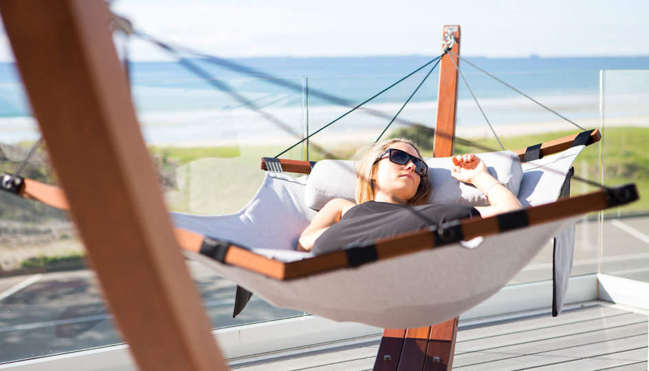 Le hamac est idéal pour la sieste et le farniente