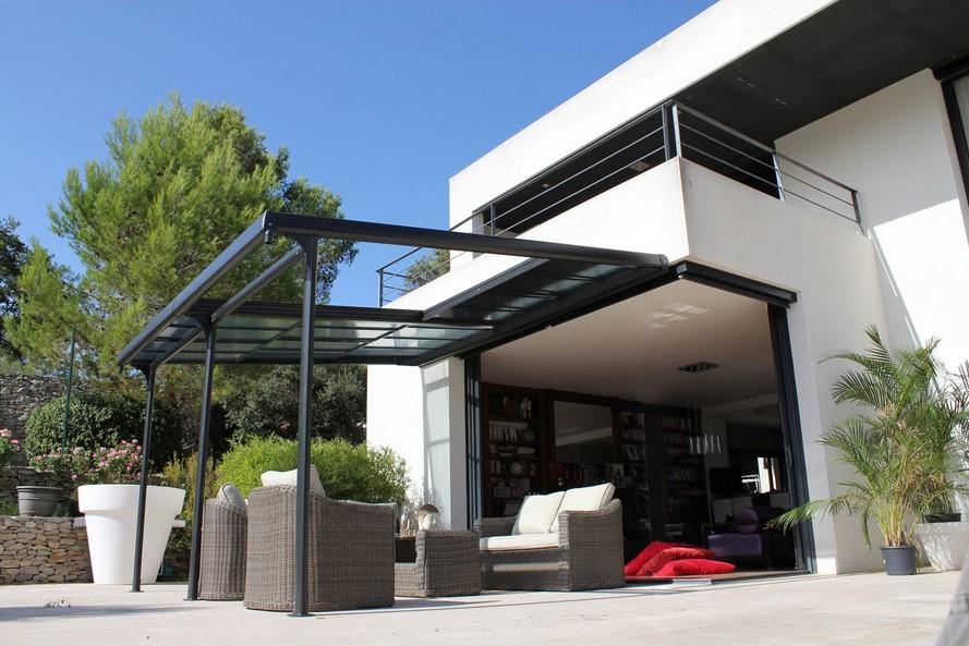 Villa d'architecte où la tonnelle a été pensée pour être intégrée