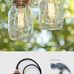 3 luminaires a faire soi meme diy avec pot de confiture et ampoules