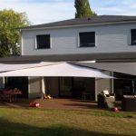 3 voiles d ombrage australiennes blanc gris et kaki pour une bonne couverture