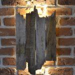 Applique murale en bois de recup exterieur