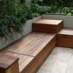 Banc de jardin design dans beaux materiaux bois