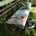 Banc de jardin fer forge vintage au charme desuet