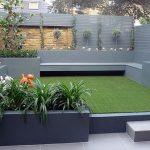 Banc de jardin gris design pour exterieur