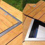 Brasero design bois et metal