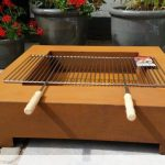 Brasero table avec barbecue et grille