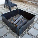 Brasero terrasse epure en metal