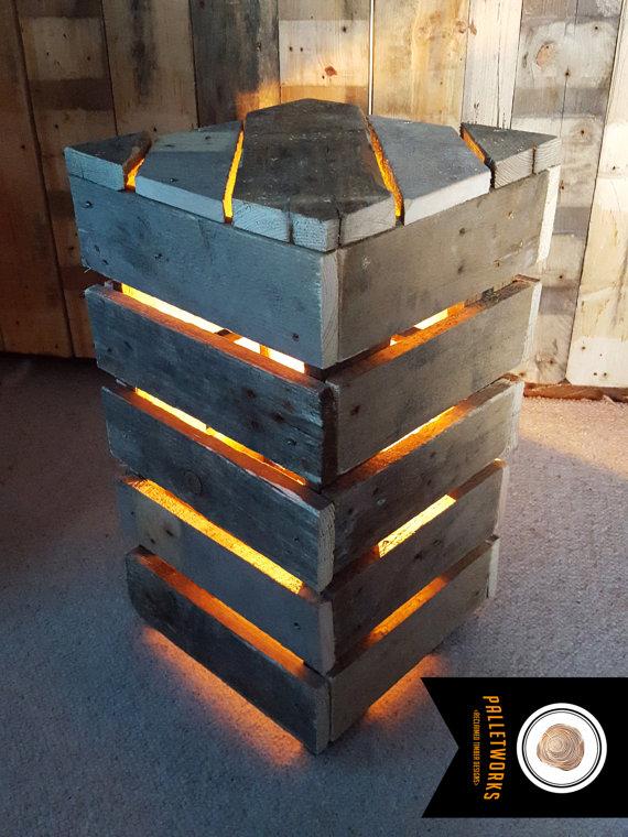 Eclairage exterieur avec brasero bois