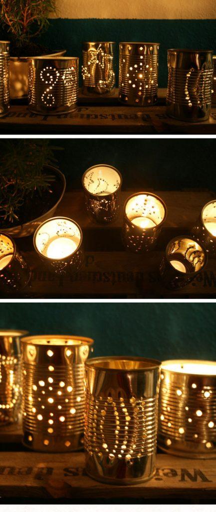 Eclairage exterieur photophore pour un effet tamise