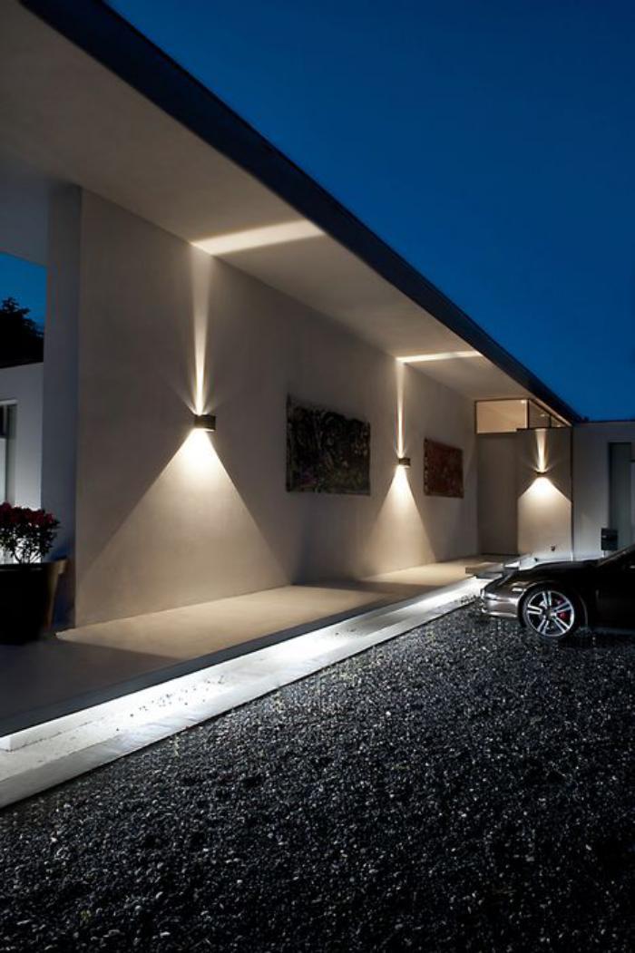 Facade Exterieur Salon Eclairage Tres Mural Sol Et Design Sur Led YgvI6mf7yb