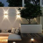 Eclairage led sur muret pour maison exterieur contemporain et design