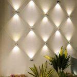Eclairage original et design de petite applique forme losange pour exterieur