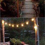 Eclairageguirlande ampoules led maison exterieur