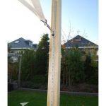 Fixation toile mate triangulaire pour terrasse