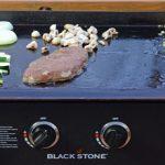 Grande plancha table black stone pour 8 personnes