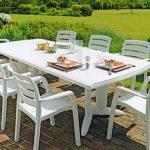 Grande table plastique blanche pour exterieur