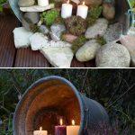 Habillage de tonneaux avec eclairage bougies