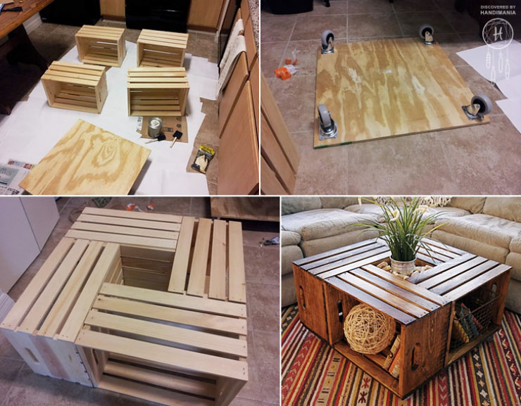 Idee de detournement de palette pour table de jardin design