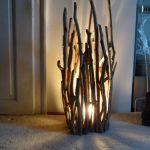 Lampe exterieur diy en bois flotte