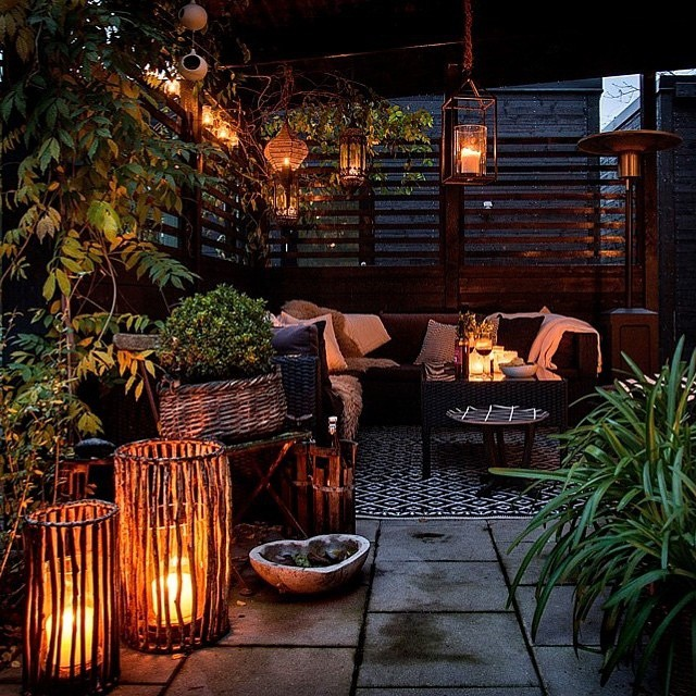 Lampions exterieur pour ambiance jungle