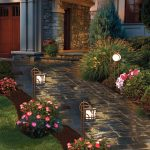Luminaire exterieur bordure allee facon petite lanterne de jardin