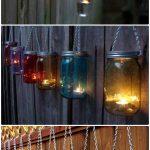Luminaire exterieur lanterne et bougie diy suspendus
