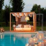 Luminaire pour eclairage salon d exterieur avec piscine
