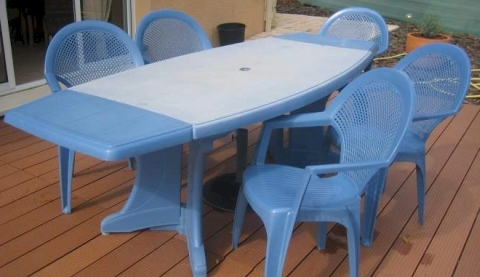 Awesome Table De Jardin Plastique Bleue Ideas - House Design ...