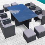 Mobilier exterieur en resine pour jardin ou bord de piscine
