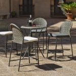 Petite table bistrot tressee exterieure resine