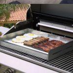 Plancha electrique inox a poser sur barbecue