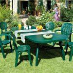 Salon de jardin en plastique mobilier exterieur pour 8 personnes