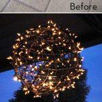 Structure spherique fer pour eclairage exterieur led