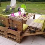 Table de jardin design recup palette