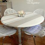 Table de jardin ronde design avec ses chaises esprit nordique