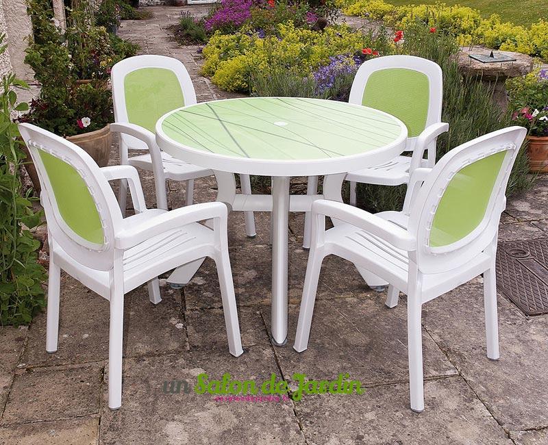 table pour exterieur en plastique esprit british cottage. Black Bedroom Furniture Sets. Home Design Ideas