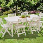 Table pour jardin en plastique avec chaises pliantes