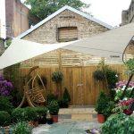 Toile pour pergola blanche pour jardin traite anti uv