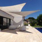 Toile pour pergola triangulaire mate australienne couleur beige