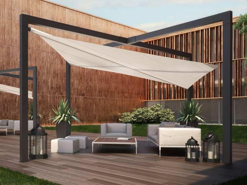 toile tendue creme pour terrasse salon de jardin salon de jardins. Black Bedroom Furniture Sets. Home Design Ideas