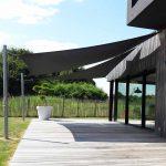 Toile triangulaire pour terrasse bois couleur gris anthracite