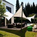 Toile triangulaire pour terrasse traite anti uv pour salon de jardin