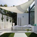 Voile blanche design d ombrage australienne