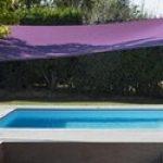 Voile d ombrage mat violet rectangulaire