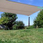 Voile d ombrage rectangulaire pour grande surface pelouse et terrasse pour salon de jardin