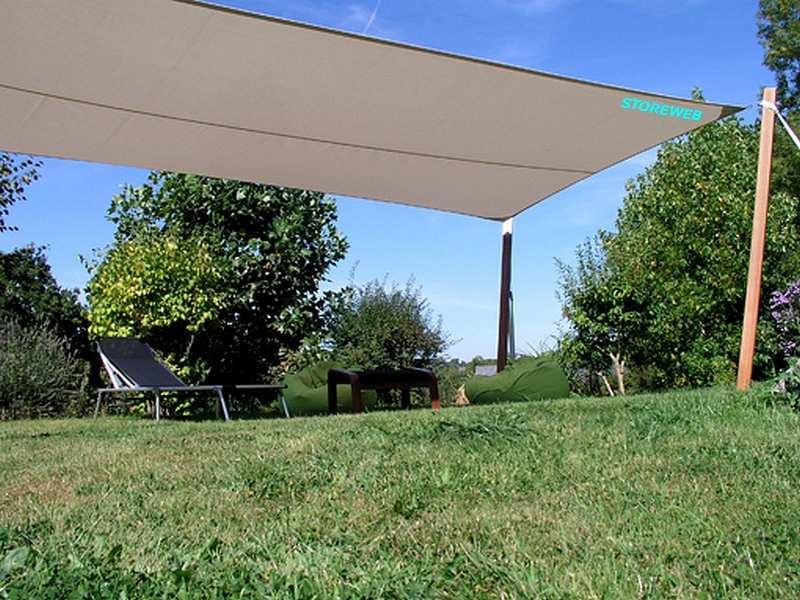 Voile d ombrage rectangulaire pour grande surface pelouse et terrasse pour salon de jardin - Bache pour salon de jardin rectangulaire ...