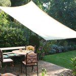 Voile d ombrage rectangulaire terrasse et bout de jardin